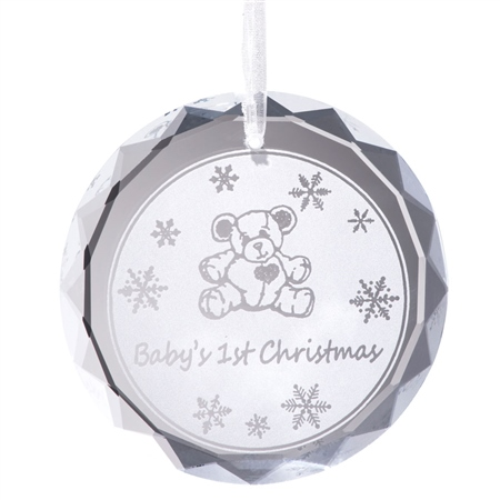 Galway Living Baby's 1st Christmas Hanging Ornament  - Click to view a larger image