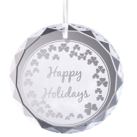 Galway Living Happy Holidays Hanging Ornament  - Click to view a larger image