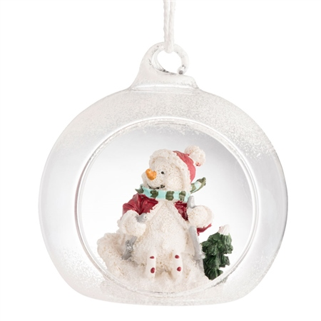 Galway Living Skiing Snowman Hanging Ornament  - Click to view a larger image