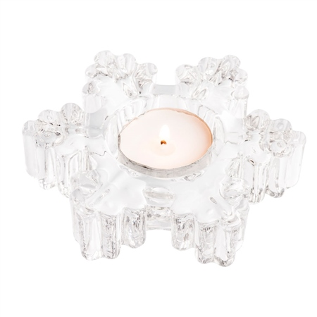 Galway Living Snowflake Votive (LED Tealight)  - Click to view a larger image