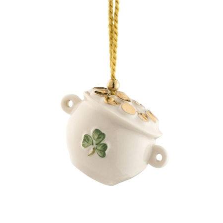 Belleek Classic Pot of Gold Ornament  - Click to view a larger image
