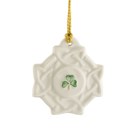 Belleek Classic Celtic Knot Ornament  - Click to view a larger image