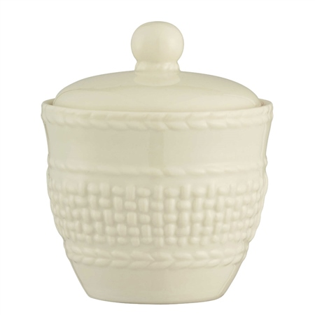Belleek Classic Galway Weave Sugar Bowl  - Click to view a larger image