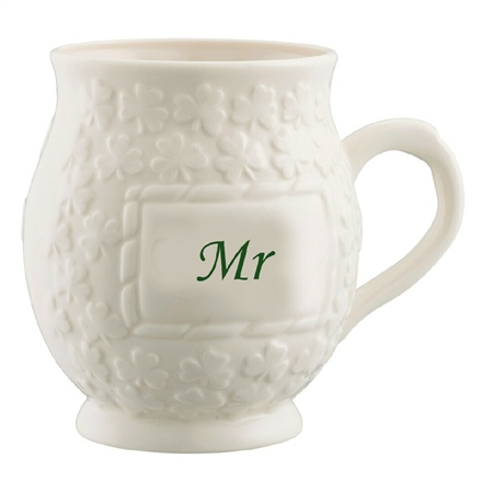 Belleek Classic Mr Shamrock Mug Belleek Classic Mr Shamrock Mug