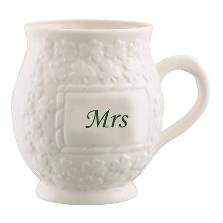 Belleek Classic Mrs Shamrock Mug  - Click to view a larger image