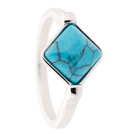 Belleek Designer Jewellery Turquoise Ring Belleek Jewellery - Turquoise Collection - Click to view a larger image
