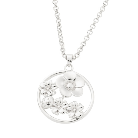 Belleek Designer Jewellery Flora Necklace Belleek Jewellery - Flora Collection - Click to view a larger image