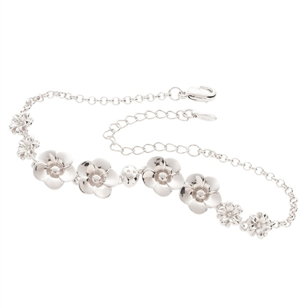 Belleek Designer Jewellery Flora Bracelet Belleek Jewellery - Flora Collection - Click to view a larger image