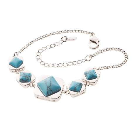 Belleek Designer Jewellery Turquoise Bracelet Belleek Jewellery - Turquoise Collection - Click to view a larger image