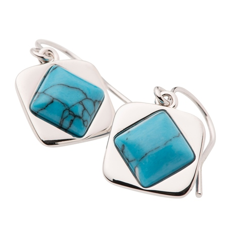 Belleek Designer Jewellery Turquoise Earrings Belleek Jewellery - Turquoise Collection - Click to view a larger image