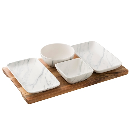 Belleek Living Marbled Tapas Set Marbled Tableware Collection - Click to view a larger image