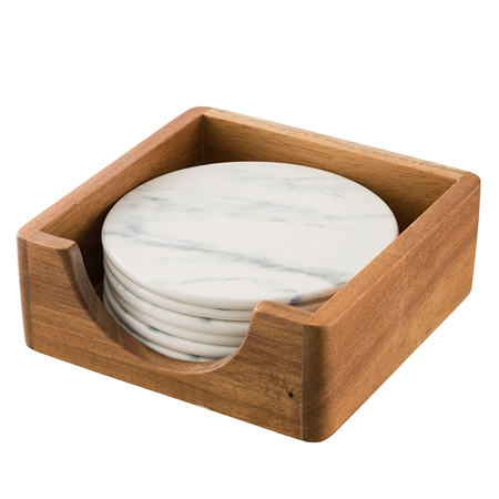 Belleek Living Marbled Round Coasters Set of 6 Marbled Tableware Collection - Click to view a larger image