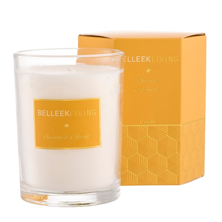 Belleek Living Incense & Amber Candle Belleek Home Fragrance Incense Amber Candle - Click to view a larger image