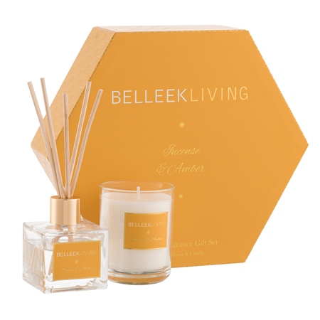 Belleek Living Incense & Amber Gift Set Belleek Home Fragrance Incense  Amber Gift Set - Click to view a larger image