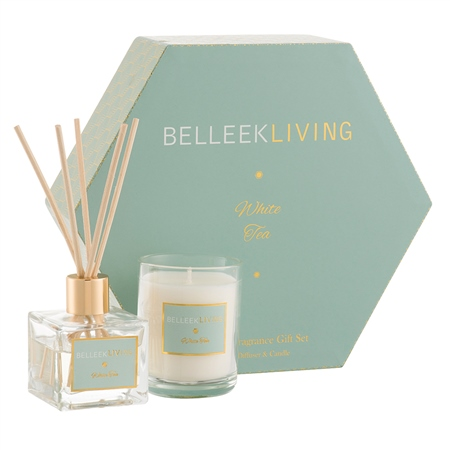 Belleek Living White Tea Gift Set Belleek Home Fragrance - White Tea Candle - Click to view a larger image