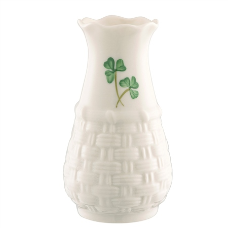 "Belleek Classic Weave 4"" Vase Belleek Classic Handcrafted Weave Mini Vase - Click to view a larger image"