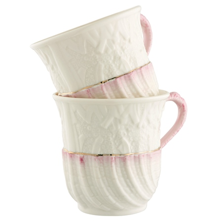 Belleek Classic Set of Two Neptune Mugs  - Click to view a larger image