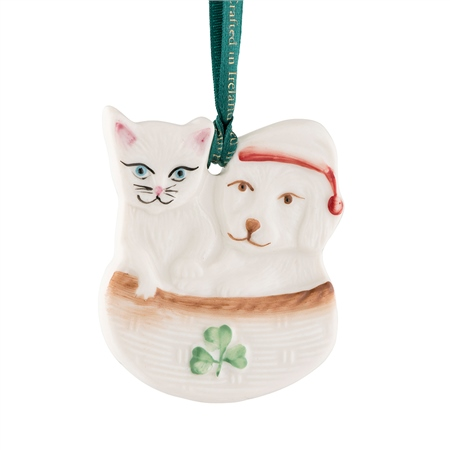 Belleek Classic Christmas Buddies Ornament  - Click to view a larger image