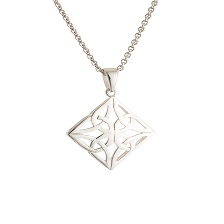 Galway Crystal Jewellery Celtic Knot Sterling Silver Pendant Galway Crystal Jewellery - Celtic Knot Collection - Click to view a larger image