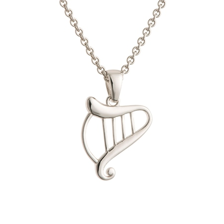 Galway Crystal Jewellery Harp Sterling Silver Pendant Galway Crystal Jewellery - Harp Collection - Click to view a larger image