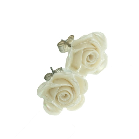 Belleek Classic Jewellery Rose Earrings (Mother of Pearl) Belleek Classic Jewellery Heirloom Collection - Click to view a larger image