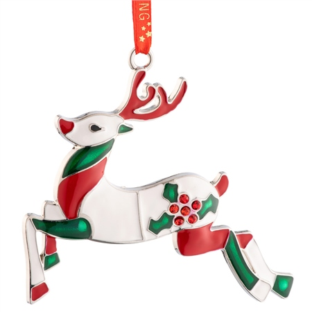 Belleek Living Reindeer Enamel Ornament Belleek Living Christmas - Reindeer Enamel Ornament - Click to view a larger image