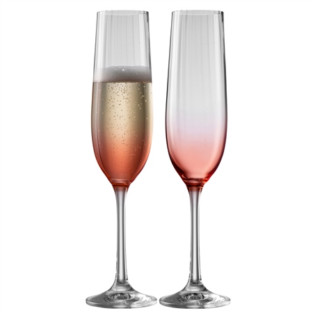 Galway Living Erne Flute Set of 2 in Blush Galway Living - Erne Blush - Click to view a larger image