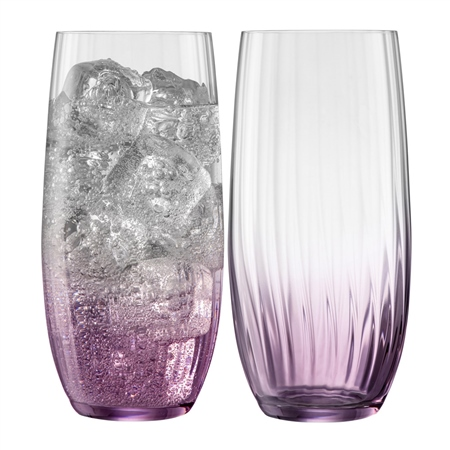 Galway Living Erne Hiball Set of 2 in Amethyst Galway Living - Erne Amethyst - Click to view a larger image