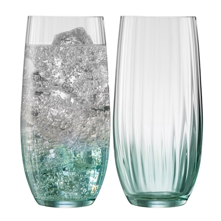 Galway Living Erne Hiball Set of 2 in Aqua Galway Living - Erne Aqua - Click to view a larger image