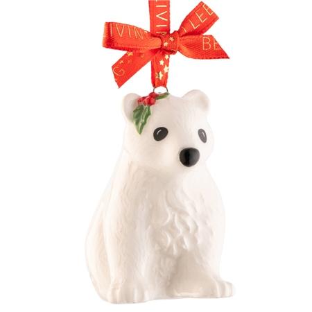 Belleek Living Polar Bear Cub  Mini Ornament Belleek Living Christmas - Polar Bear Cub Mini Ornament - Click to view a larger image