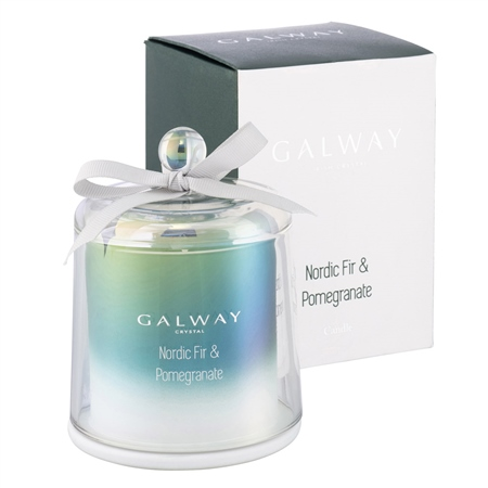 Galway Living Nordic Fir & Pomegranate Bell Jar Candle 1