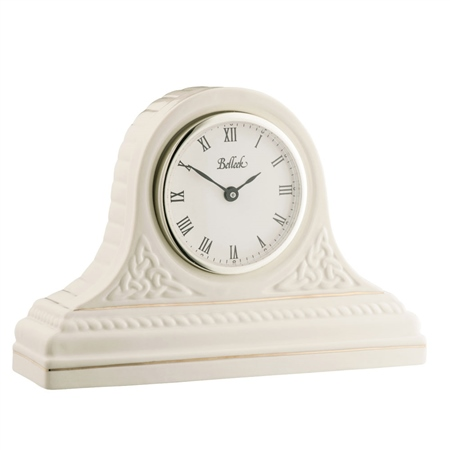 Belleek Classic Personalised Celtic Mantel Clock  - Click to view a larger image