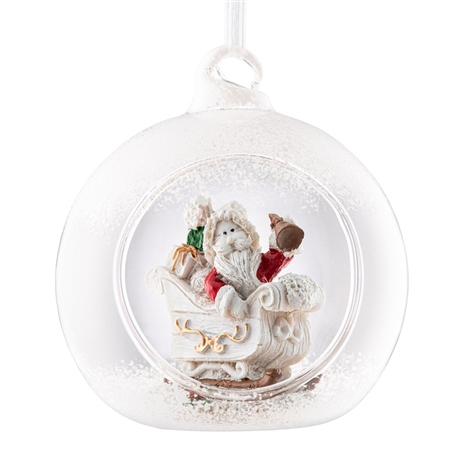 Galway Living Santa's Sleigh  Hanging Bauble Ornament Galway Living - Santas Sleigh Hanging Bauble Ornament. - Click to view a larger image