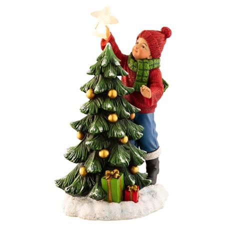 Aynsley Boy Placing Angel On Tree Figurine Led Belleek Com