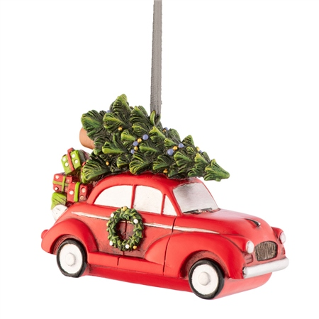 Aynsley Driving Home for Christmas Hanging Ornament Aynsley Hanging Ornaments - Driving Home for Christmas - Click to view a larger image