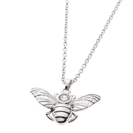 Belleek Living Jewellery Honey Bee Necklace Belleek Living Jewellery Honey Bee Necklace - Click to view a larger image