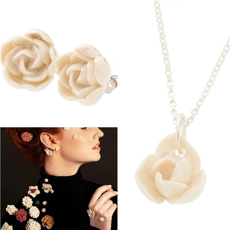 Belleek Classic Jewellery Peony Collection 1