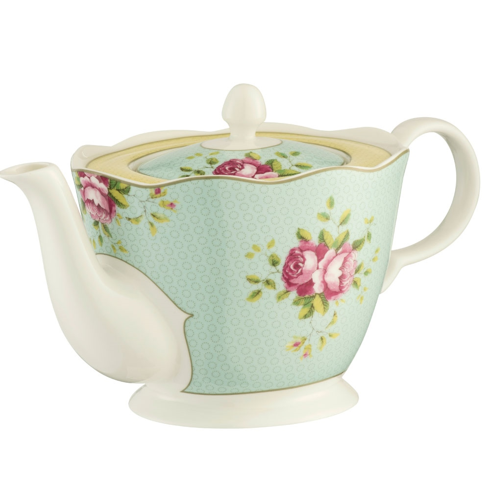 Aynsley Archive Rose Teapot 1