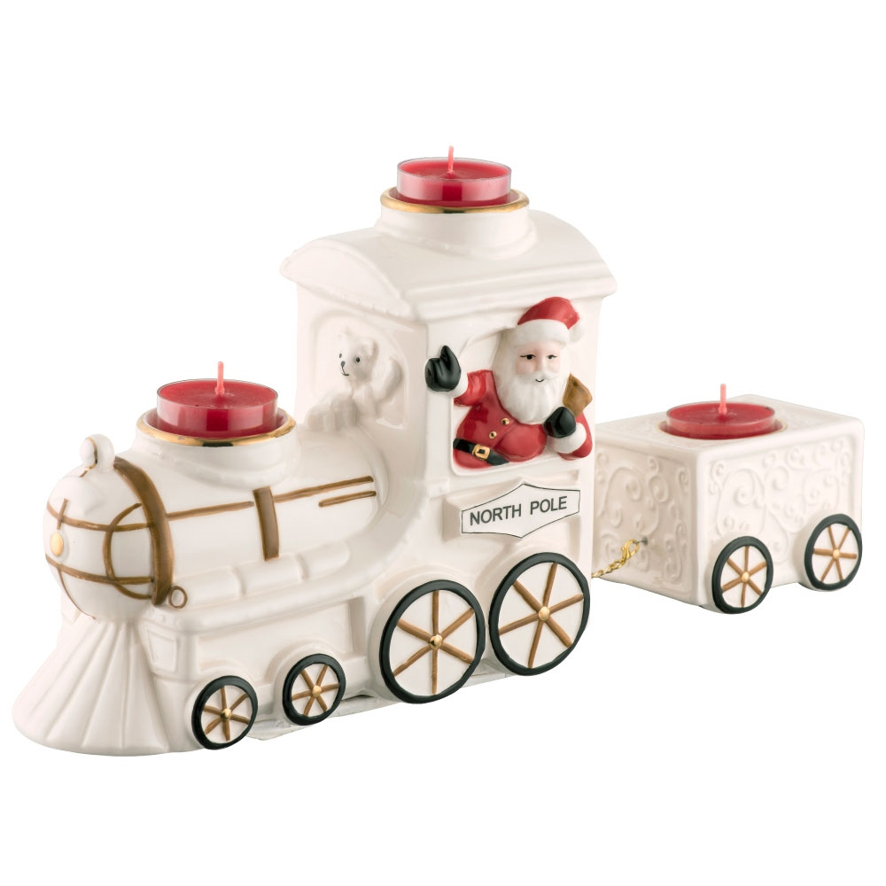 Belleek Living Santa North Pole Express Votive 1