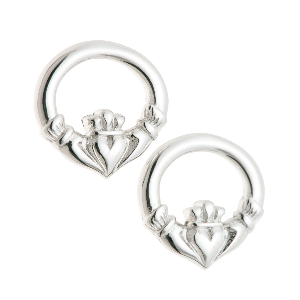 Galway Crystal Jewellery Claddagh Sterling Silver Earrings 1