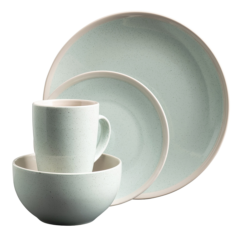 Aqua Stoneware 16 Piece Tableware Set