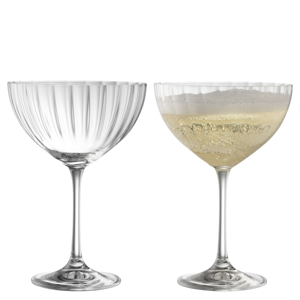 Erne Saucer Champagne Pair