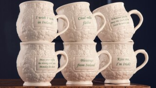 Belleek Saying Mugs