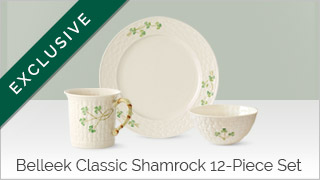 Belleek Classic Shamrock 12-Piece Set Exclusive
